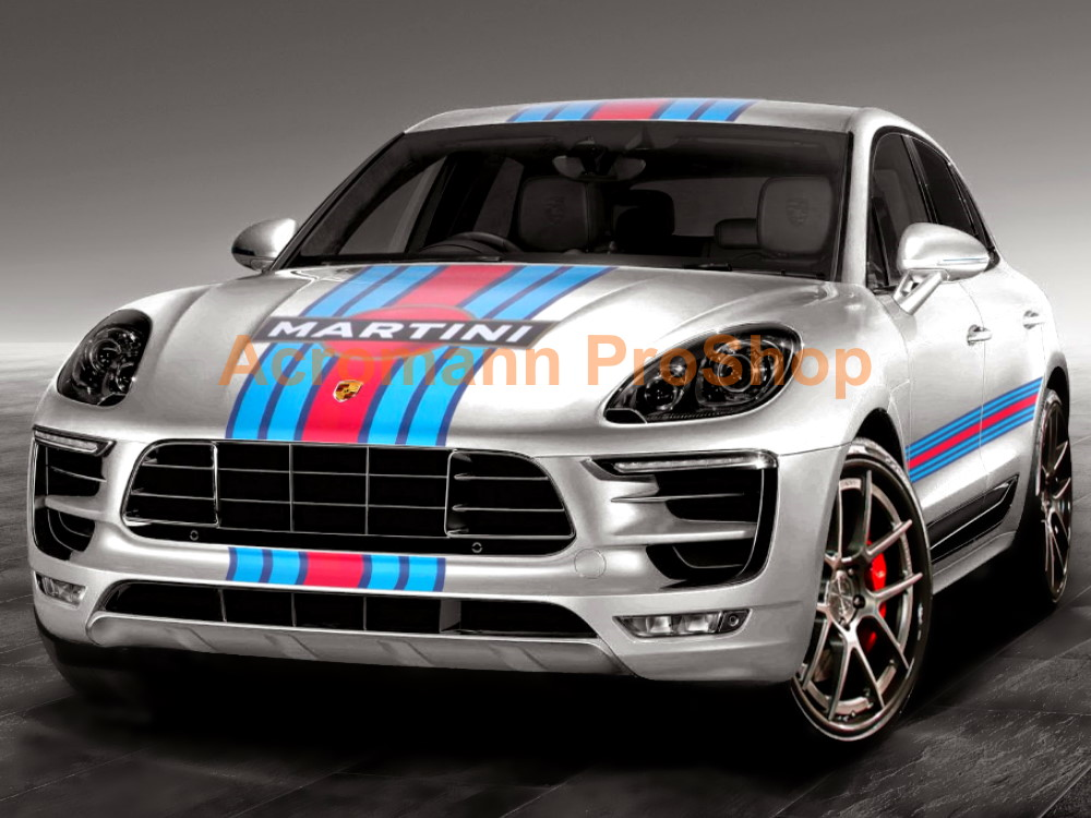 Martini Racing Porsche Macan Cayenne Top Racing Stripes Decal #1